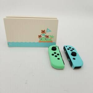 【s1500F】本体なし Nintendo Switch あつまれ どうぶつの森セット ドック & Joy-Con(L) (R) ジョイコン スイッチ