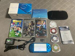 PSP-3000 ブルー 比較的良品 ソフト7