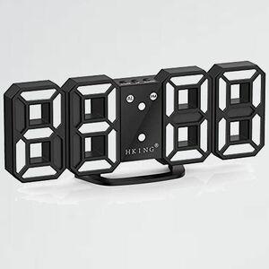好評 新品 目覚まし時計 LEDデジタル時計 7-P1 日本語取扱説明書付き デジタル時計 3Dデザイン アラ-ム機能付き 置き時計 壁掛け時計