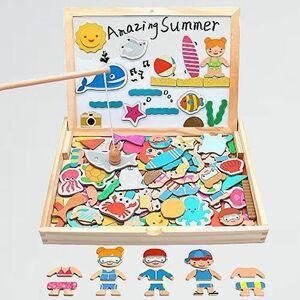 好評 新品 木製おもちゃ モンテッソ-リ 8-R5 出産祝い 誕生日 磁石 おもちゃ パズル 積み木 女の子 男の子 動物 知育玩具 マグネット