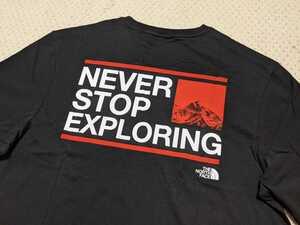 新品 送料無料 The north face ExploreT-Shirt TNF Black/Fiery Red/TNF White Mサイズ(日本Lサイズ相当)ノースフェイス Tシャツ