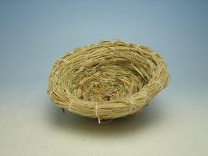 日本製 カナリアに 愛媛県産わら100%使用 皿巣 中 80-01