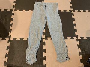 120 スウェットパンツ スエットパンツ 長ズボン パンツ スパッツ 薄手 中古品 キッズ 女の子