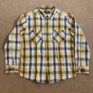 eddie bauer エディーバウアー チェックシャツ ネルシャツ Sサイズ 長袖シャツ