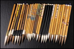 ◆天香楼◆明治~昭和 古筆 和筆 白鶴 他 太筆・中筆 各種 計30本 AG1843