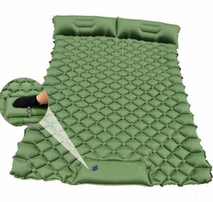 EWNICE エアーベッド ダブル エアーマットレス 折りたたみベッド アウトドア用品 キャンプマット 自動膨張 寝袋敷きマット