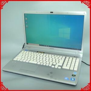 1円~ 新品爆速SSD ノートパソコン 中古良品 フルHD 16.4型 SONY VPCF118FJ Core i5 4GB Blu-ray 無線 Bluetooth カメラ Windows10 Office