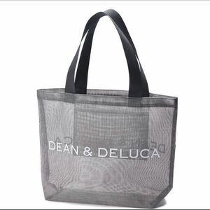 DEAN&DELUCA メッシュトート エコバッグ グレー Lサイズ ディーン&デルーカ ハンドバッグ メッシュバッグ コンパクト