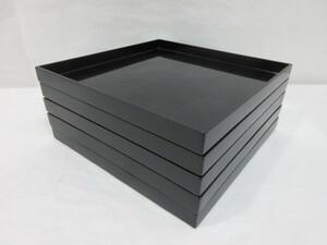 【風流庵】 『懐石』 木製 漆塗 ★ 利休形 懐石膳 五客  合せ紙箱