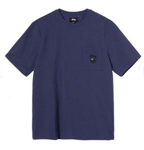 ■送料無料■定価以下■ Mサイズ 21SS Stussy 8 BALL POCKET CREW Navy 紺 ステューシー Tシャツ ポケット ボール ネイビー