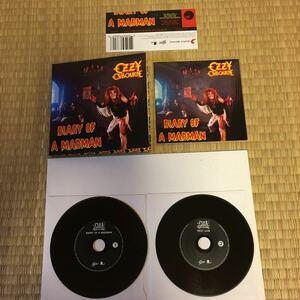 輸入盤 紙ジャケ 2枚組 オジーオズボーン OZZY OSBOURNE DIARY OF A MADMAN ランディー・ローズ