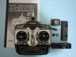 【送料無料/程度良好】JR プロポセット X378 送信モジュール クリスタル 受信機 バッテリケース マニュアル完備
