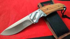 Y1057 ロシアンフォールディングナイフ 折りたたみ  包丁 フィッシング テント タープ 焚き火 薪 料理 ハンティング