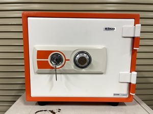 [ Manufacturers long time period stock goods ]e-ko- small size fire-proof safe ES-9YR [ dial type + cylinder type ] unused goods (1)