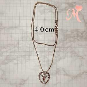 Handmade necklace heart glass angel