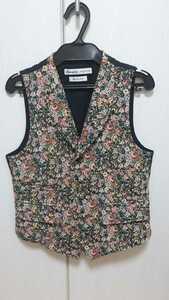ビームスボーイ/BEAMS BOYのジャガード織り花柄ベストFREEサイズ