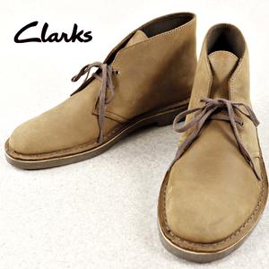 相場価格¥24,000- 美品 Clarks クラークス 牛革 レザー デザートブーツ オリジナルソール ブラウン 茶 27cm メンズ 紳士