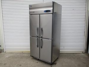 y1558-21 業務用 ホシザキ 4ドア冷凍庫 HF-90ZT3-ML 2017年製 3Φ200V W900×D800×H1900 店舗用品 中古 厨房機器