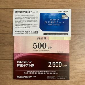 ツルハグループ 株主優待カード+商品券3000円分