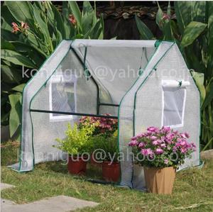 家庭用 育苗小型 寒冷対策PE素材 ビニールハウス温室簡易温室 ビニール温室0.9M菜園ハウスグリーンハウス スチールパイプ ガーデニングww03