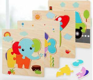 【再入荷新品知育5点セット】幼児 型はめパズル 木製おもちゃ知育玩具