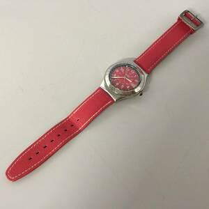 ●SWATCH スウォッチ IRONY 腕時計 赤文字盤 レッド 【21/0917/01