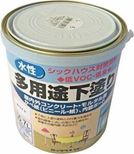 ホワイト ロックペイント 水性シーラー 多用途下塗り ホワイト 0.7L H33-1501-03