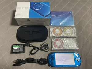 PSP-3000 ブルー 比較的良品 ソフト4