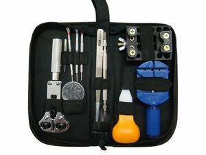 時計修理工具 13点セット 時計工具セット 時計用工具 ケース付き 腕時計 工具 こじあけ工具 ウォッチ バンド ベルト 調整