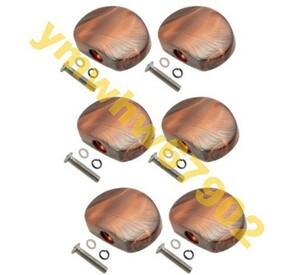 ★高評価400★優良店★6個セット 半円形状 エレキギター チューニング ペグ キャップチューナー機 ヘッド交換ボタンノブ Mz1127