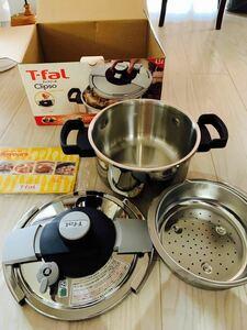 T -Fal (ティファール) クリプソプルミエ 4.5l 未使用 圧力鍋  IH対応 ティファール圧力鍋 未使用