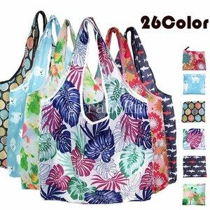 新品エコバッグ 選べる26タイプ エコバッグ エコ 買い物バッグ ショッピング A4 マイバッグ ショッピングバッグ 折りたたみ バッグ セン