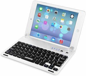 Arteck Apple iPad Mini用Bluetoothキーボードフォリオケースカバー スタンド付き 超薄型 Apple