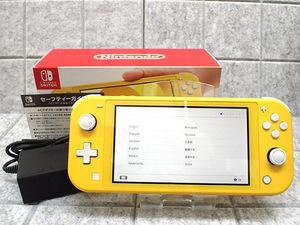 人気【中古 良品】Nintendo Switch Lite イエロー HDH-S-YAZAA 任天堂 ニンテンドー スイッチ ライト 本体 付属品 完品(LJB53-1)