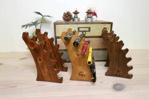 ♪♪木製 万年筆 ボールペン 置き 展示 ラック ディスプレイ スタンド ハンドメイド 男前 アンティーク ビンテージ♪♪