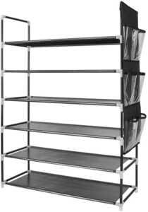 最新 シューズラック 6段 靴棚 靴箱 下駄箱 組み立て式 玄関収納 ブーツ収納 省スペース 収納棚 大容量 25-30足靴収納可 (6段)