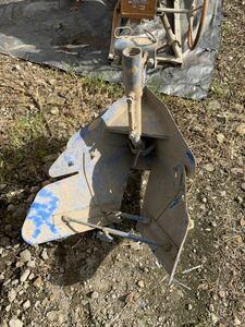 トラクター用 小川式 畦立器 片培土器 畝立て器トラクター パーツ アタッチメント 丸軸 培土 バイド 畦立 畦 現状売り切り