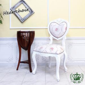 【送料無料】アンティーク調食卓椅子 猫脚 ダイニングチェア 姫系 白家具 ピンクホワイトフラワー ロココ調チェア 6087-F-18F116