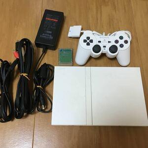プレイステーション2 薄型 SONY ソニー プレステ2 PS2 SCPH-77000 本体 DVD ホワイト すぐに遊べるセット