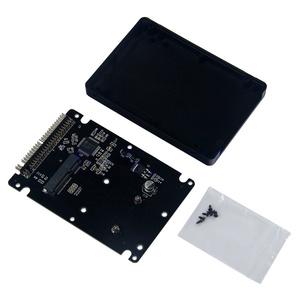 mSATA/PCI-E SSD→IDE 2.5インチ 9mm厚 変換アダプター ケース付 【送料無料】