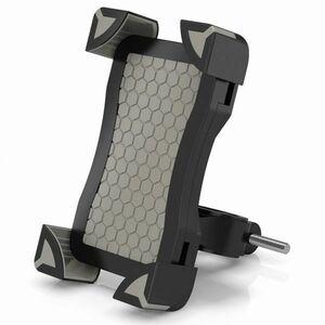 #0213 自転車 バイク スマホ ホルダー スタンド 360度回転 調整可能 iPhone/Andriodなど多機種対応 グレー