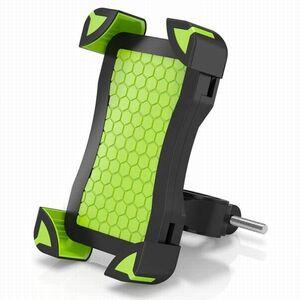 #0214 自転車 バイク スマホ ホルダー スタンド 360度回転 調整可能 iPhone/Andriodなど多機種対応 グリーン