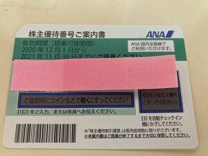 ANA 全日本空輸 株主優待券 21年11月30日まで