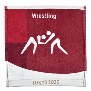 ピクトグラム柄のレスリングハンドタオル★東京オリンピック公式ライセンス
