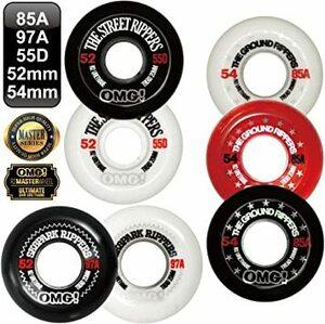 STREET 55D ホワイト 52mm オーエムジー(OMG!) スケボー スケートボード ウィール 85A 97A 55D