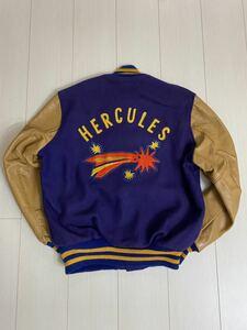 DeLONG 70s-80s アワードジャケット スタジャン レザー 袖革 デロング HERCULES 刺繍