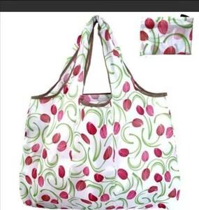 買い物袋 折りたたみ  エコバッグ軽量コンパクト ショッピングバッグ  花柄 1枚