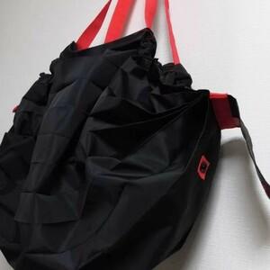 エコバッグ折りたたみ簡単 買い物袋 ショッピングバッグ ブラック1枚