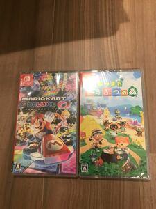 [新品未開封]マリオカート8デラックス+あつまれどうぶつの森  Nintendo Switch
