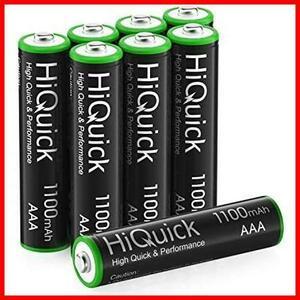 ★即決★ニッケル水素電池1100mAh 約1200回使用可能 単四充電池セット ケース2個付き HiQuick 単4充電池 IK-87 8本入り 単4電池 充電式 単4
